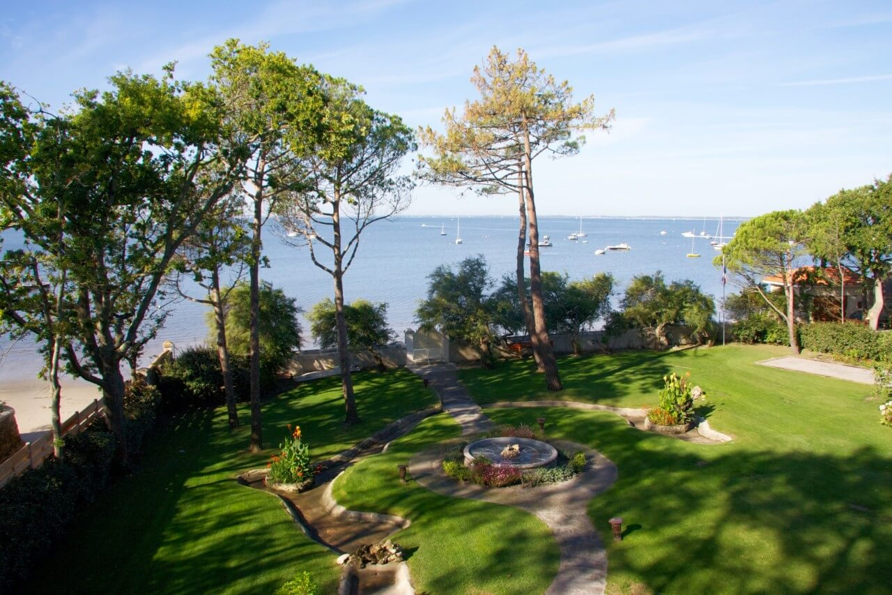 Ferienvilla Atlantico Bordeaux Garten