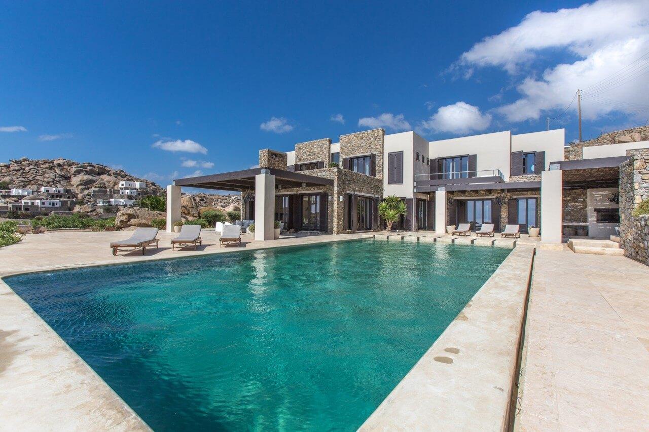 mycosia ferienvilla auf mykonos am super paradise beach mieten. Black Bedroom Furniture Sets. Home Design Ideas