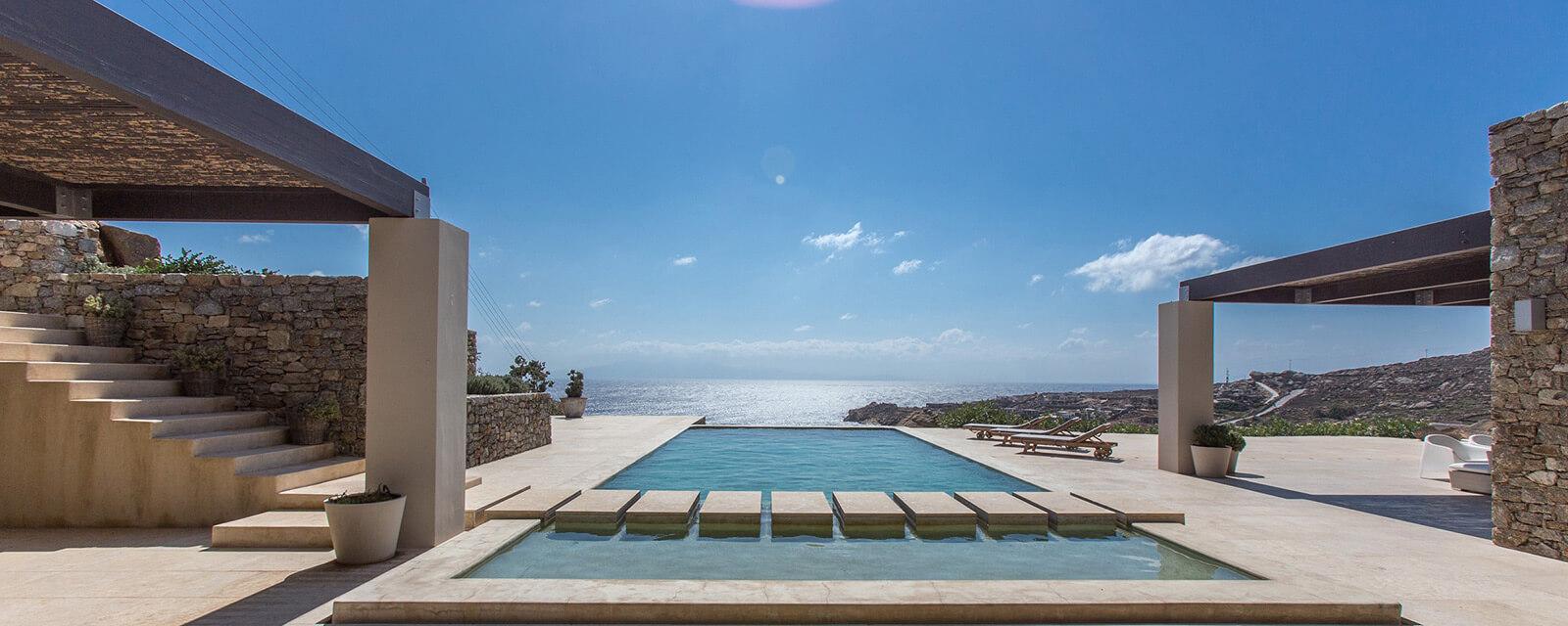 Mycosia ferienvilla auf mykonos am super paradise beach for Pool design manufaktur ug rottenburg