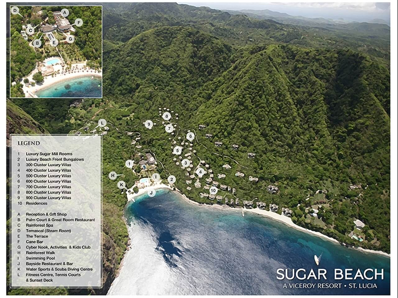 sugar beach a viceroy resort st lucia jetzt bei landmark buchen. Black Bedroom Furniture Sets. Home Design Ideas